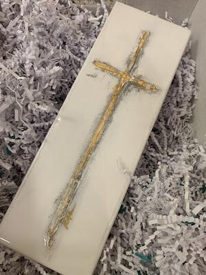 4x12 Cross Painting Grey