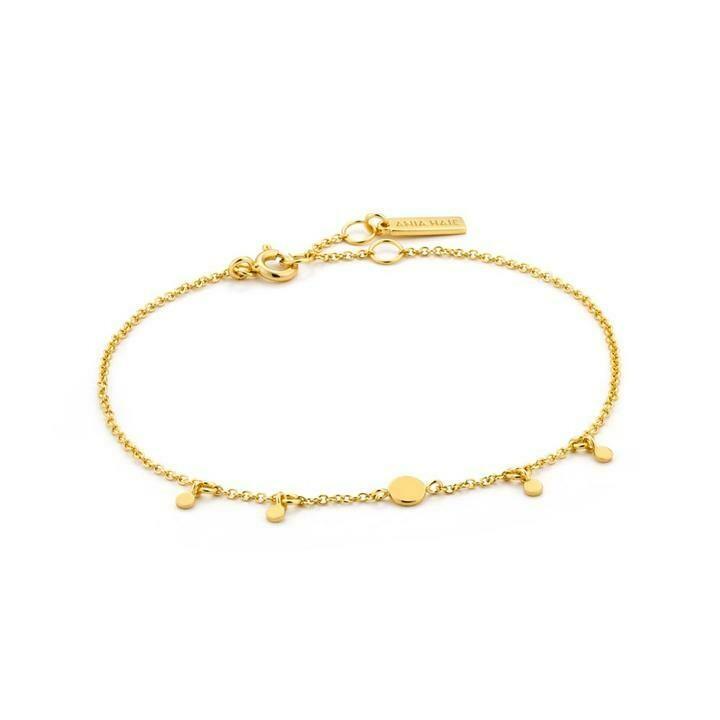 Ania Haie Geo Drop Discs Bracelet Gold