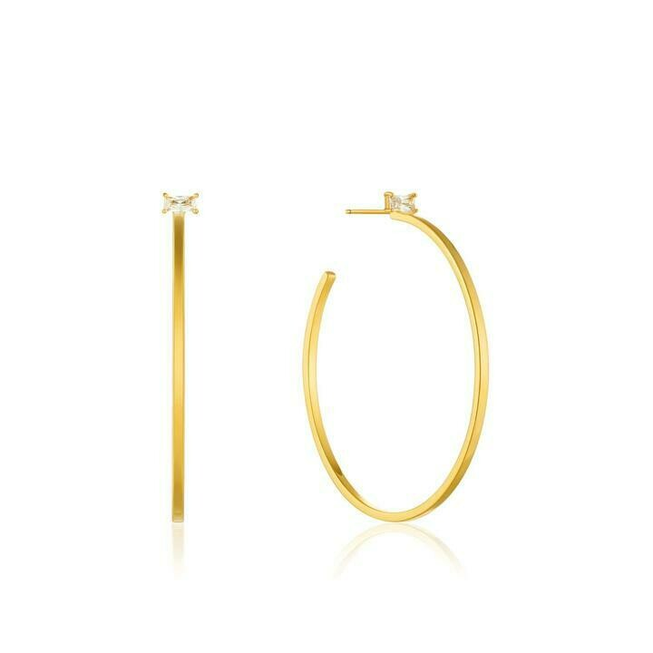Ania Haie Glow Hoop Earrings Gold