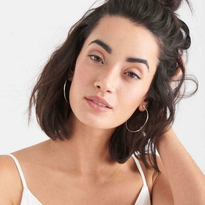 Ania Haie Glow Hoop Earrings Silver