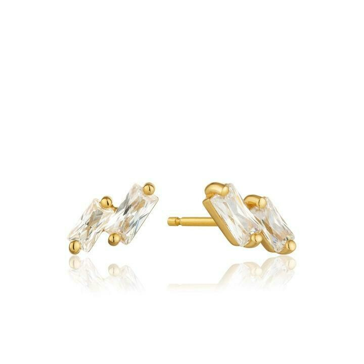 Ania Haie Glow Stud Earrings Gold