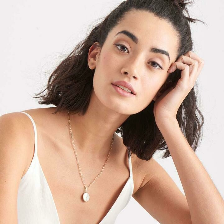 Ania Haie Mother Of Pearl T-Bar Necklace Gold