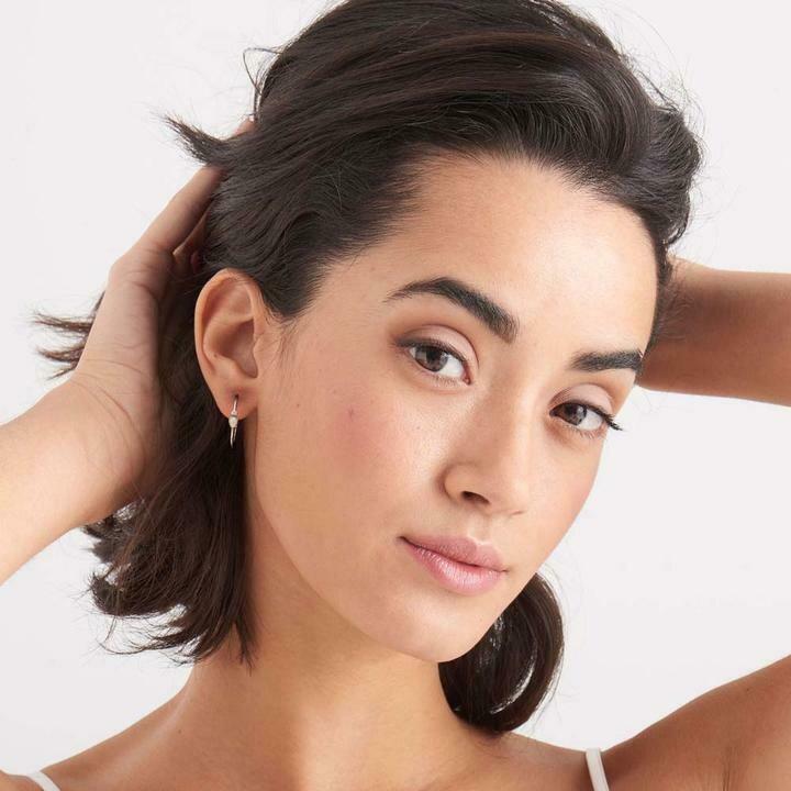 Ania Haie Opal Raindrop Hoop Earrings Gold