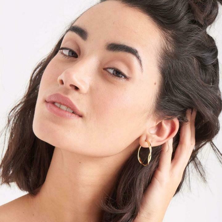 Ania Haie Twist Hoop Earrings Gold