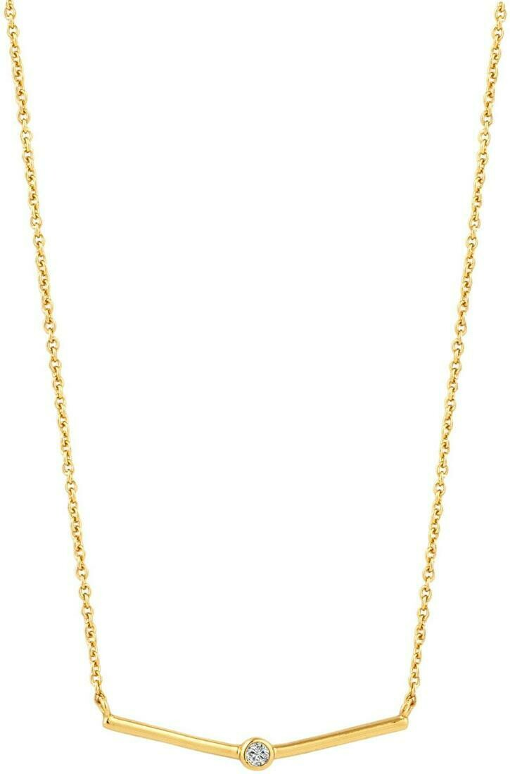 Ania Haie Solid Bar Necklace Gold