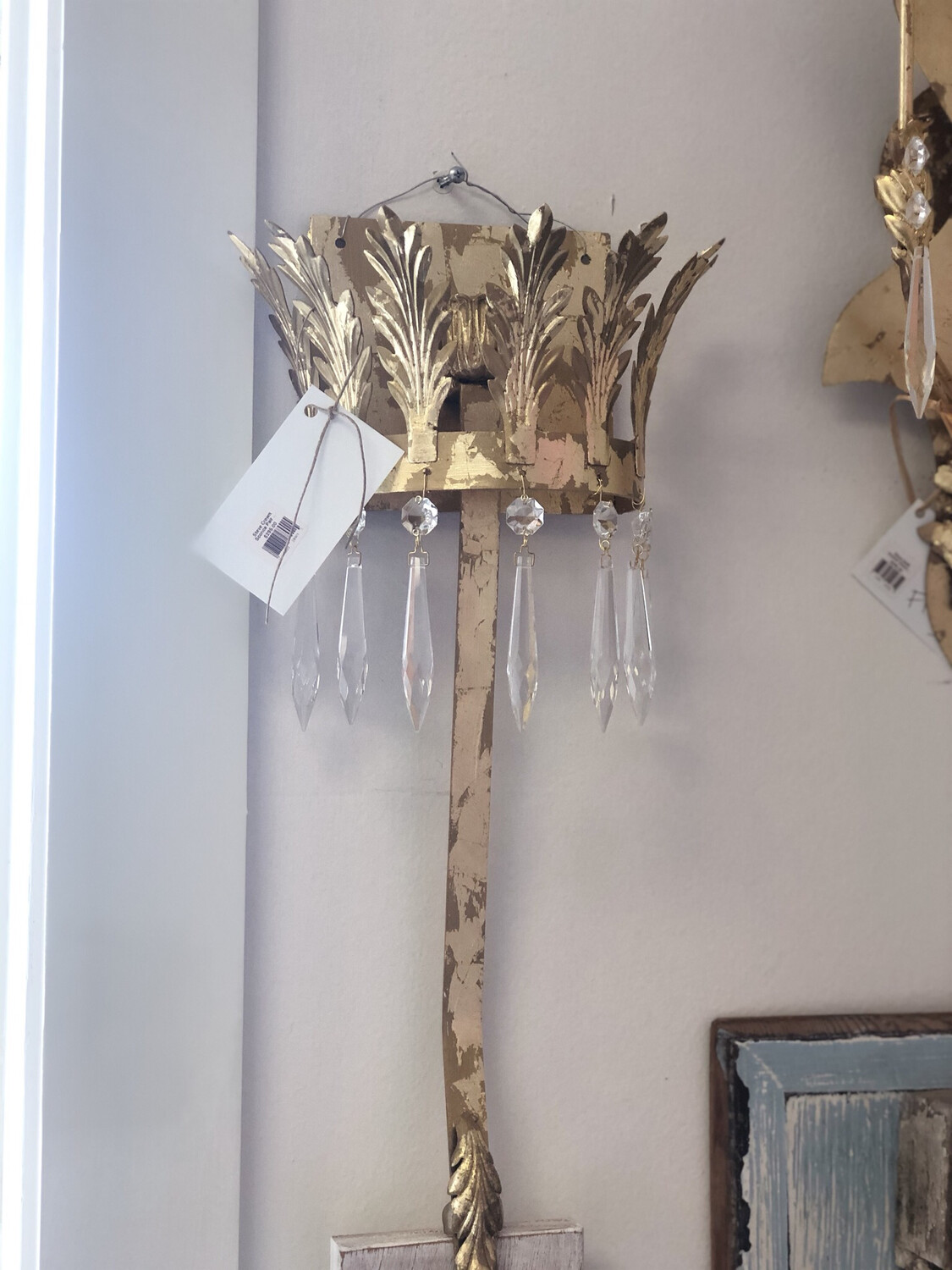 Steve Crown Sconce Pair Small