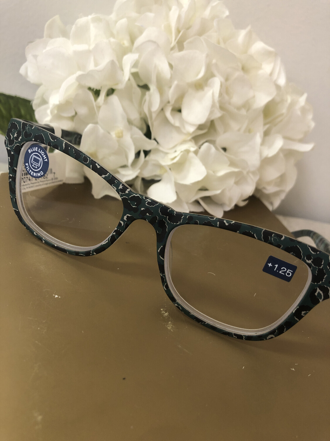 Peepers Orchid Island Focus Green Leopard Floral +1.25
