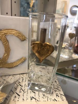 Gilded Heart Vase Small