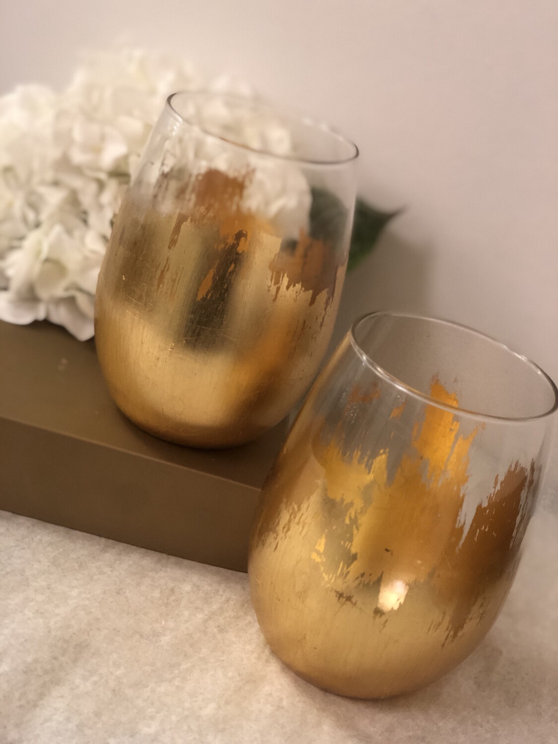 Gold Gilded Stemless Glass