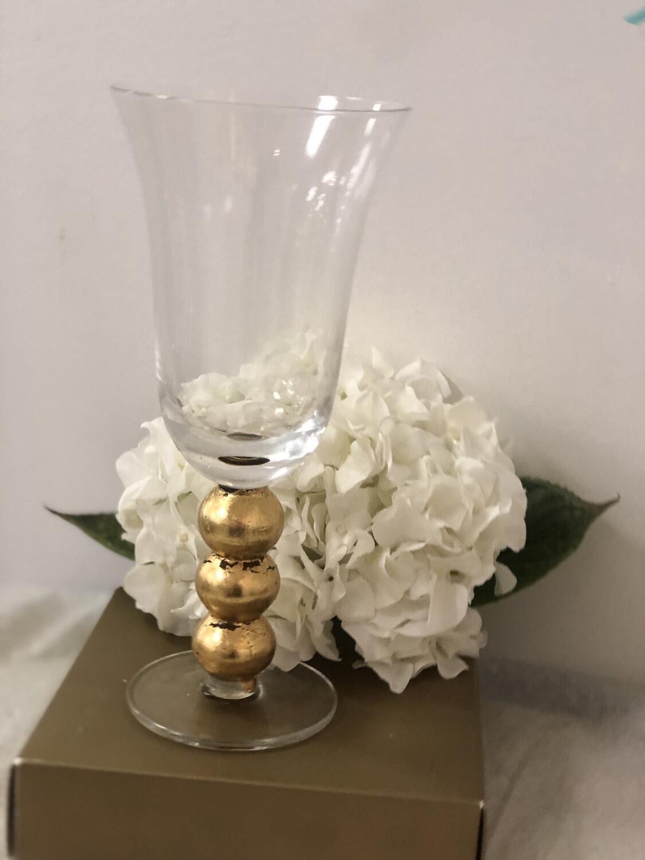 Gilded 3 Ball Stemmed Glass