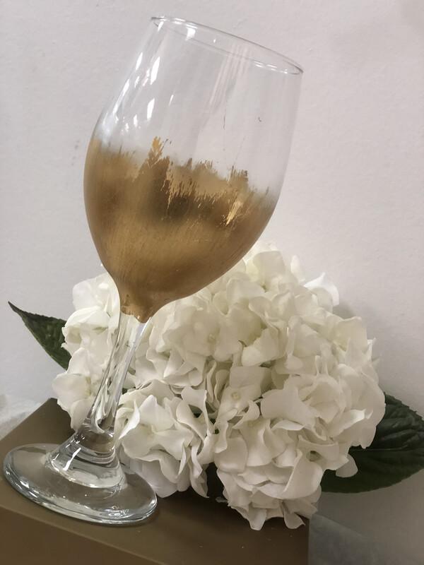 Gilded Stemmed Wine Glass