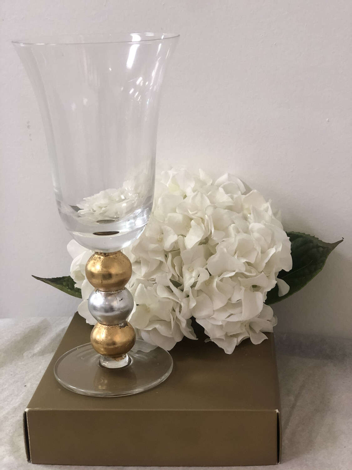 Gilded Gold/Silver Ball Champagne Glass