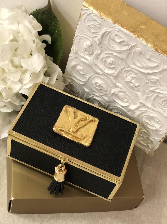 Designer Jewelry Box Black LV