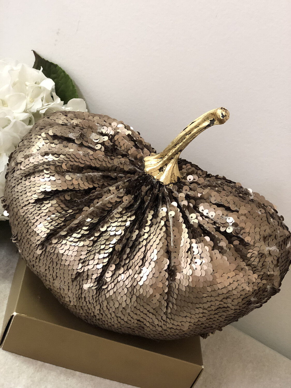 Brown Sequin Pumpkin