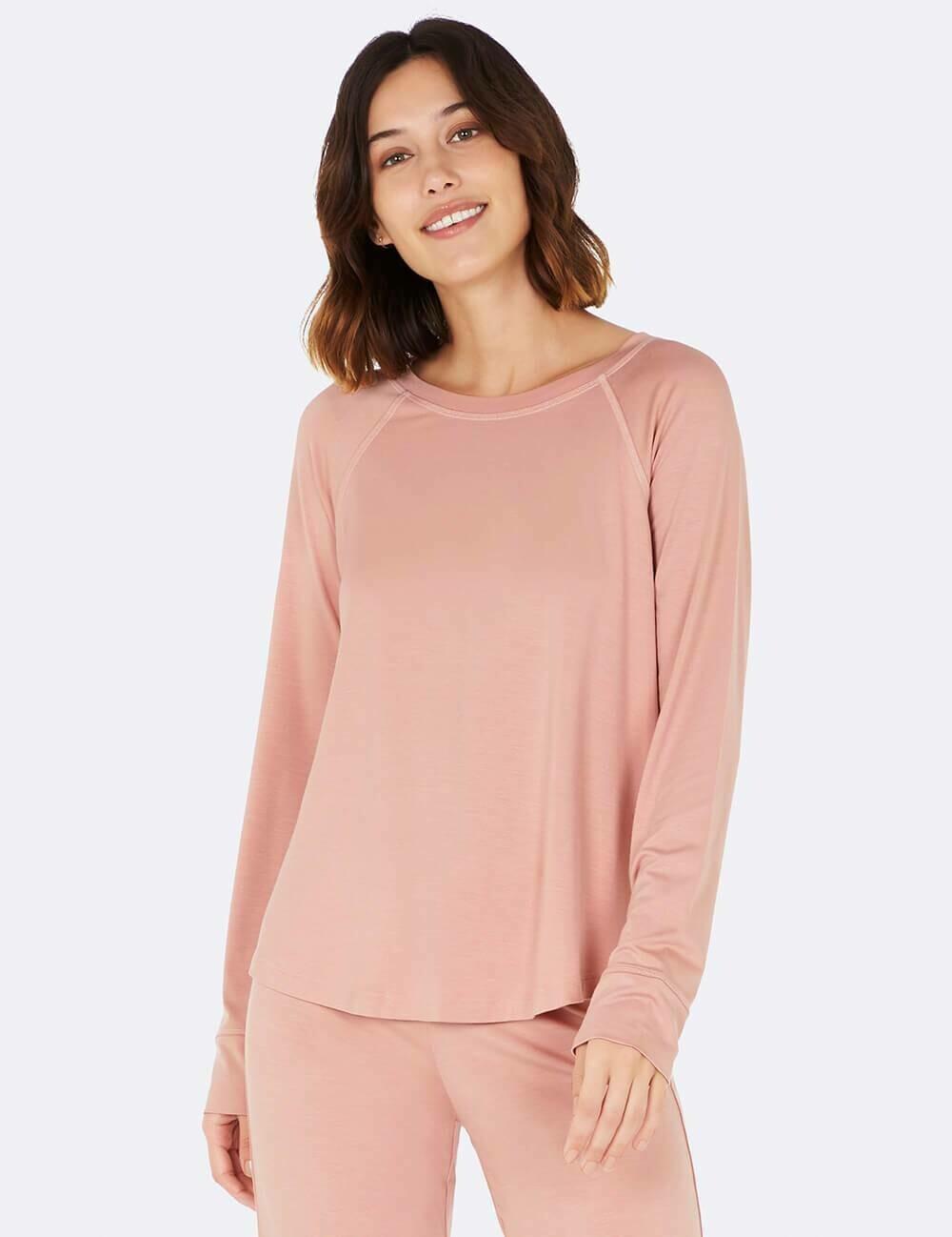 Boody Dusty Pink Raglan Sleep Top XL