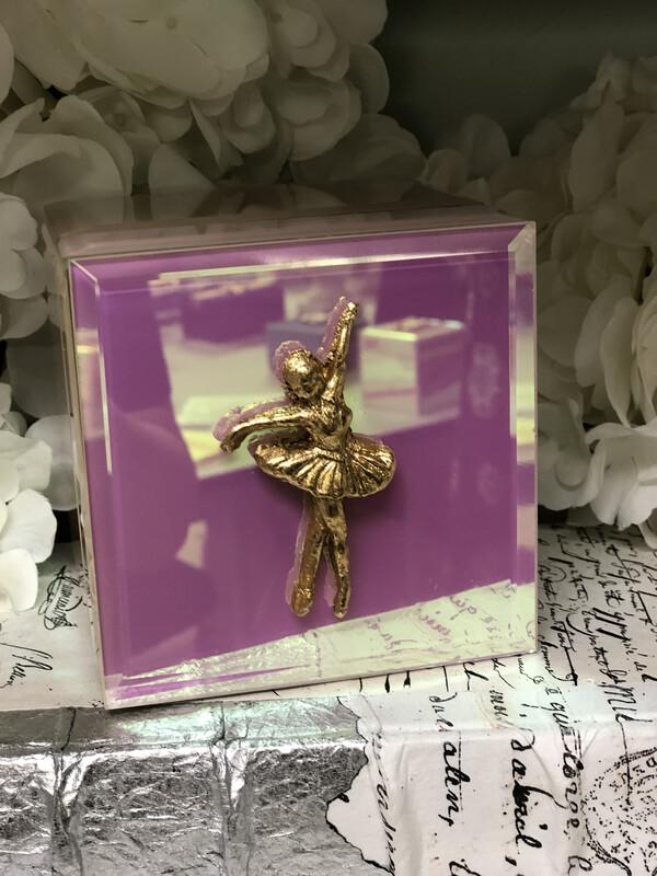 Designer Jewelry Box Pink Iridescent Ballerina