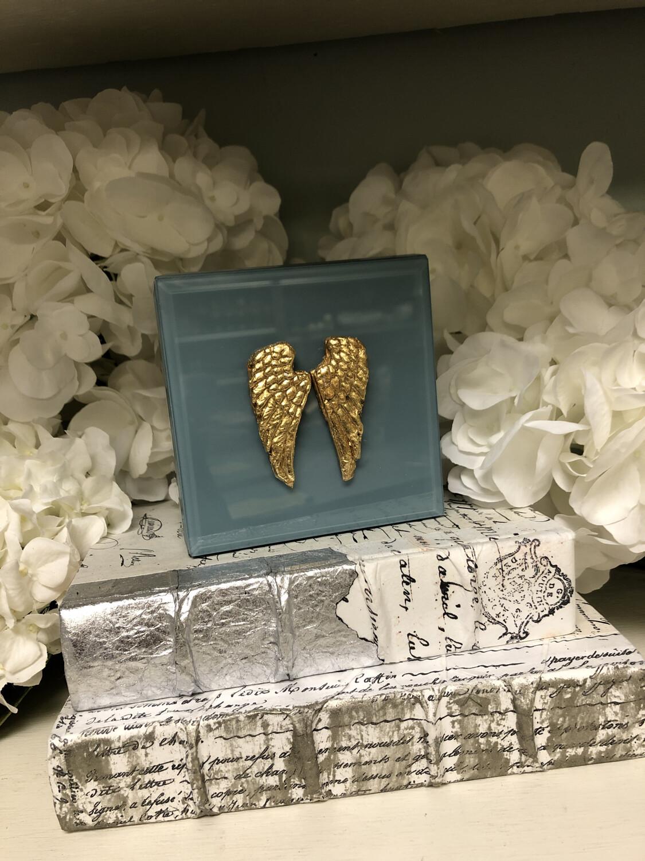 Designer Jewelry Box Blue Wing