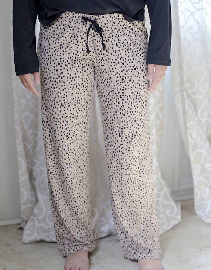 TRS Cheetah Sleep Pants Small
