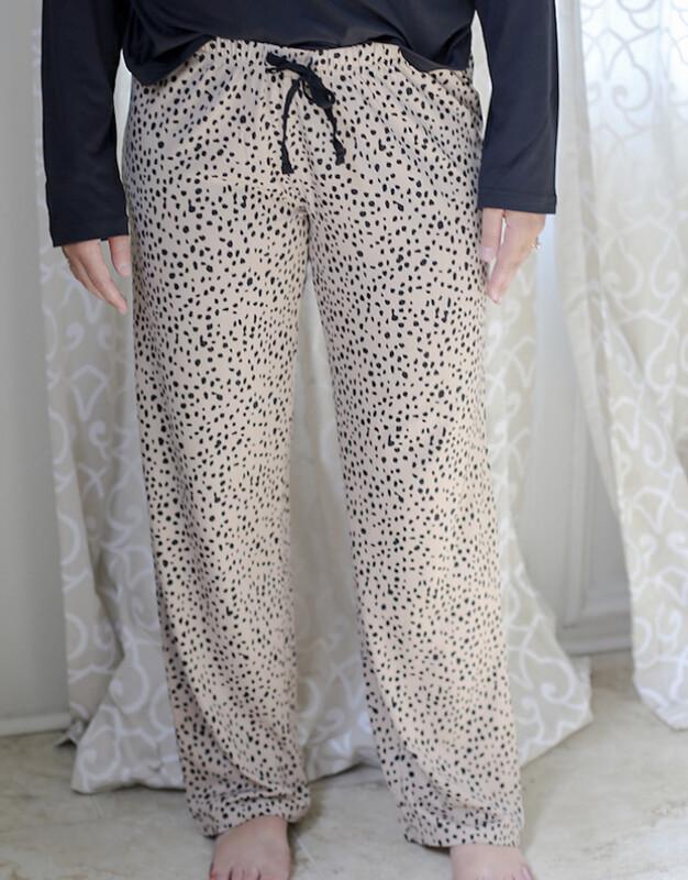 TRS Cheetah Sleep Pants Small