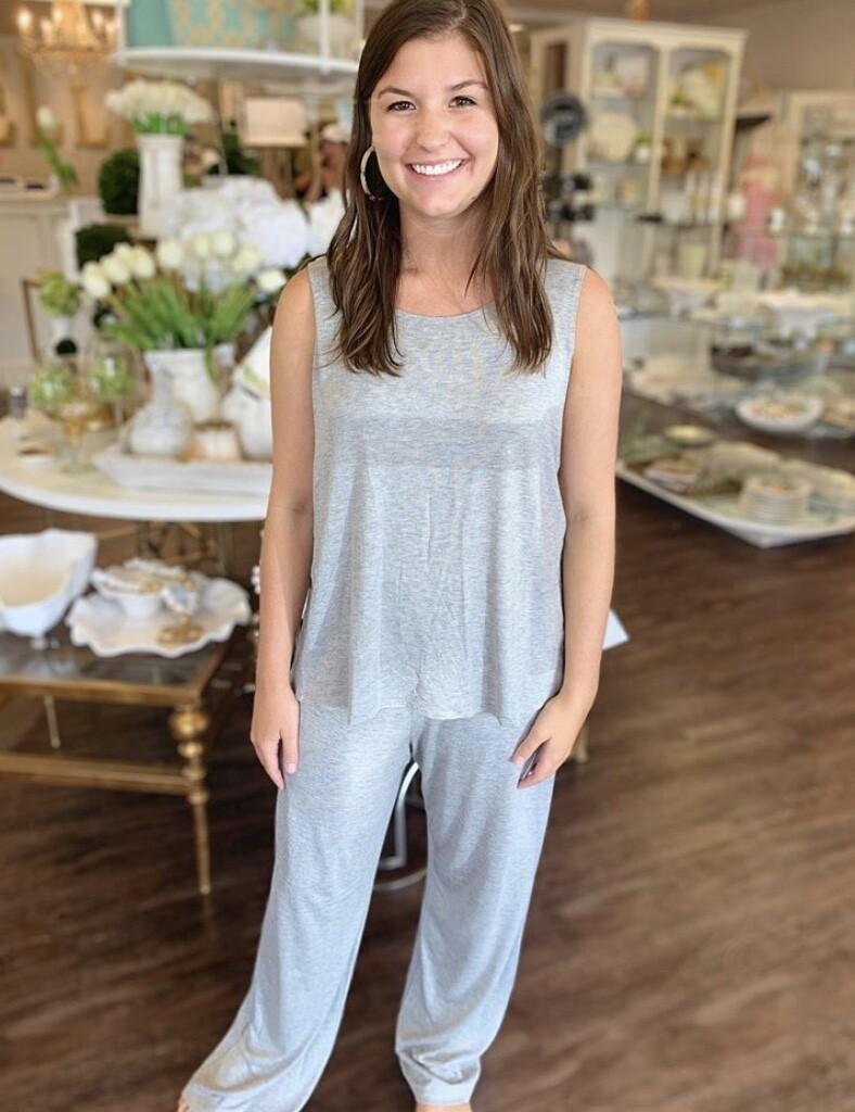Bella PJ Pant Set Gray Large