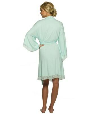 Paisley Lace Robe Green XL