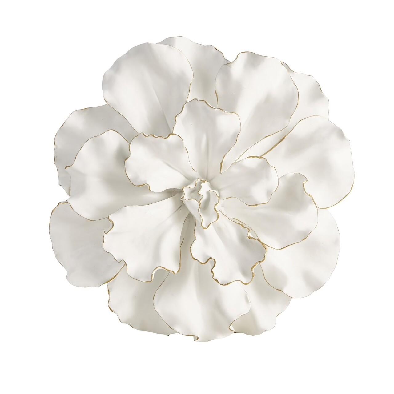 SB White/Gold Wall Flower