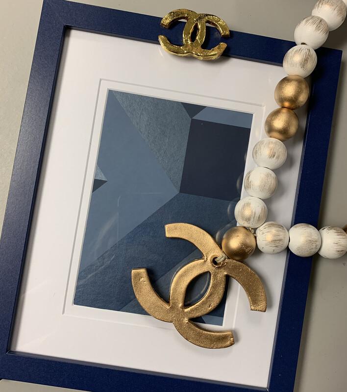 8x10 Designer Frame Triangle Navy CC
