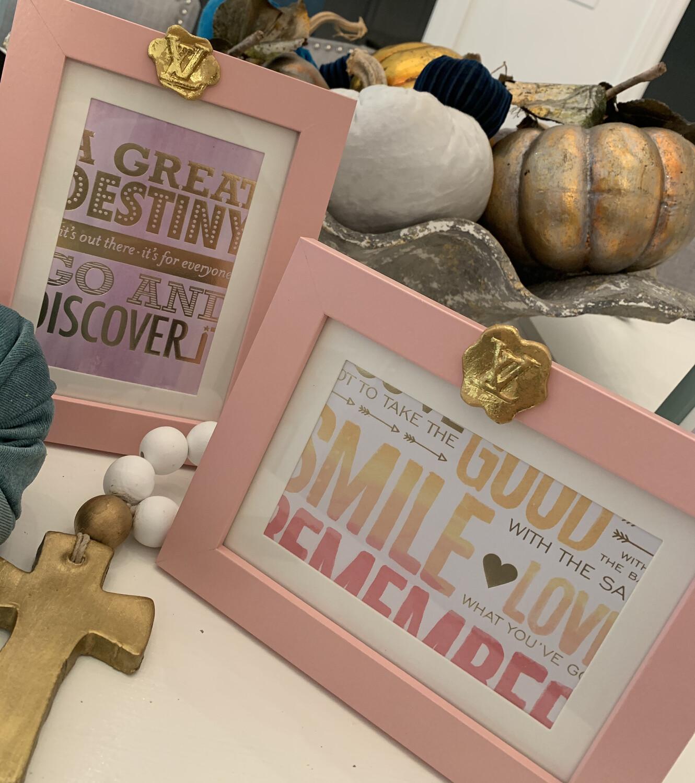 5x7 Designer Frame Smile Pink LV