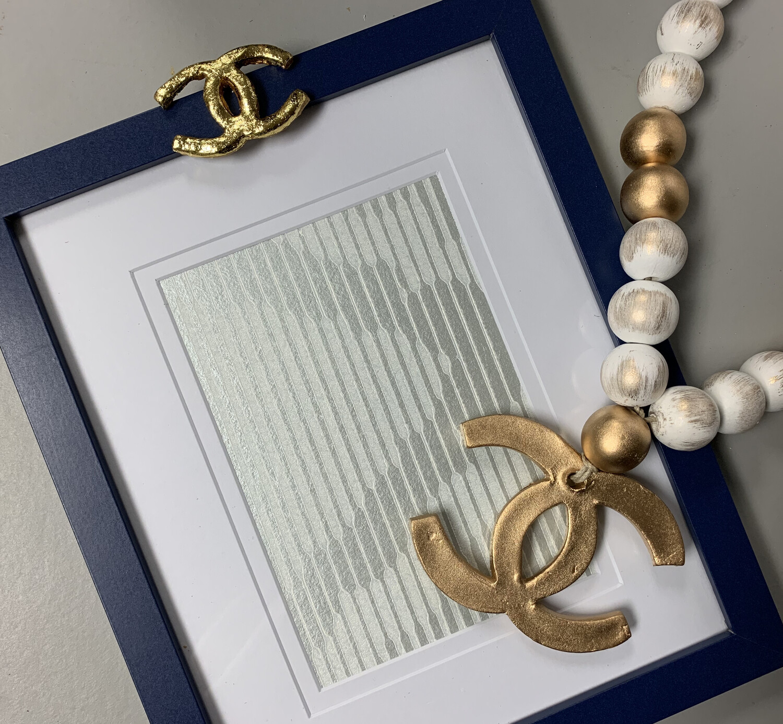 8x10 Designer Frame Stripe Navy CC