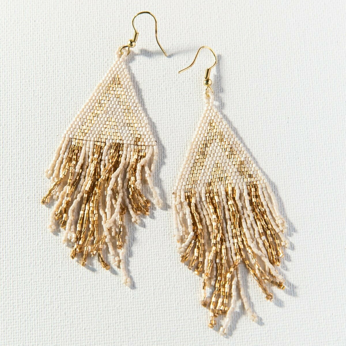 Ink & Alloy Earrings Gold/Ivory 1009