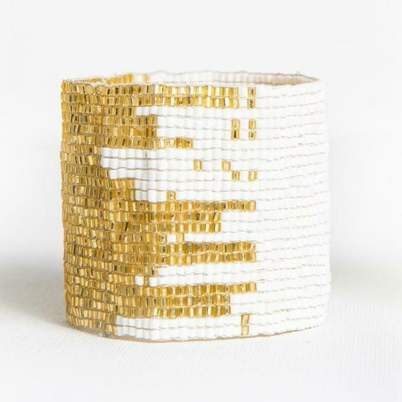 Ink & Alloy Cuff White/Gold 507