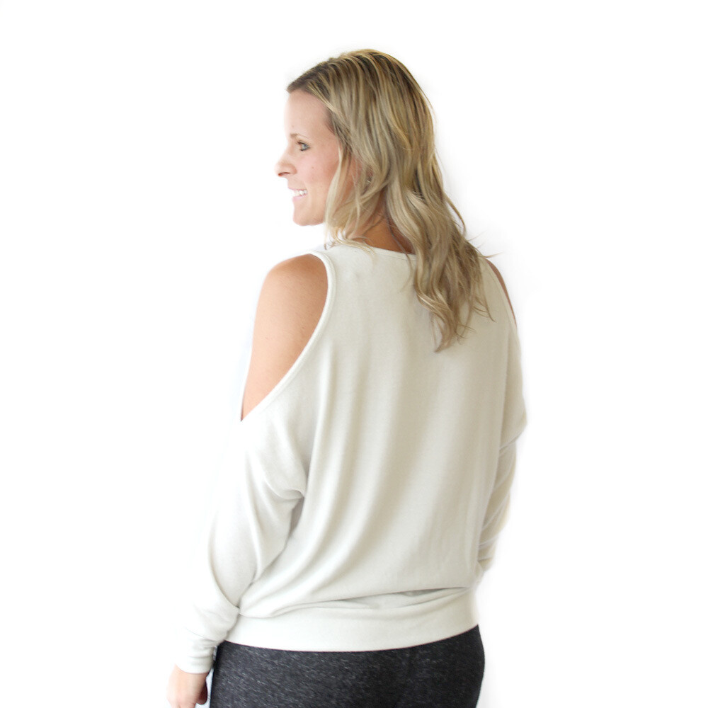 TRS soft White Sweater XL