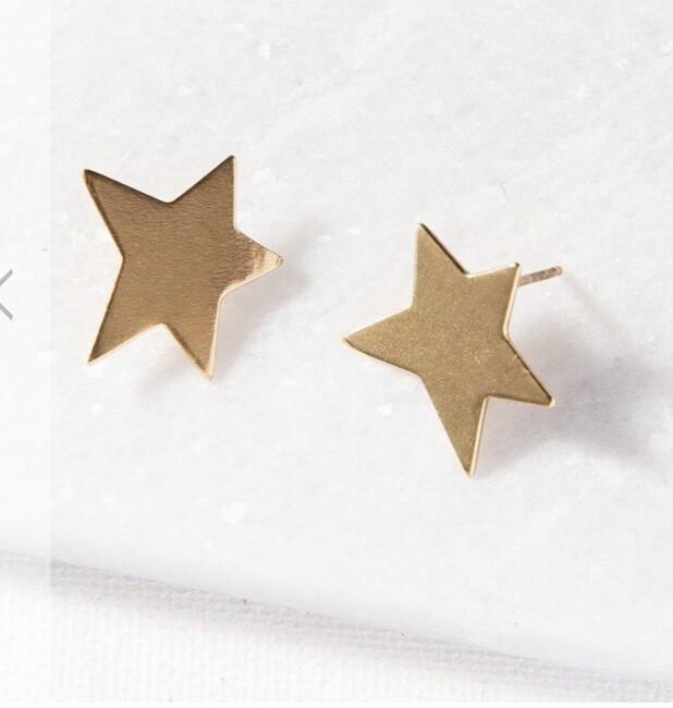 Ink & Alloy Star Earrings