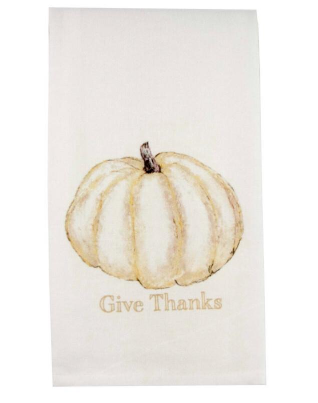 FG Cotton Towel Gold Pumpkin Give Thanks