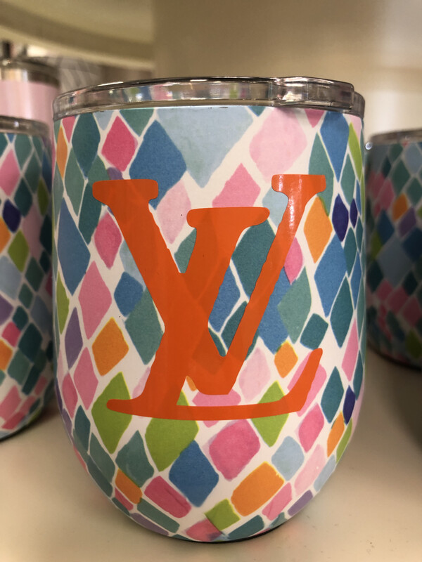 Designer Wine Tumbler Orange LV