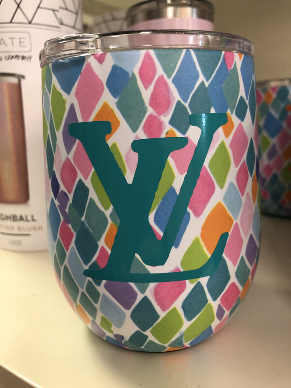 Designer Wine Tumbler Turquoise LV