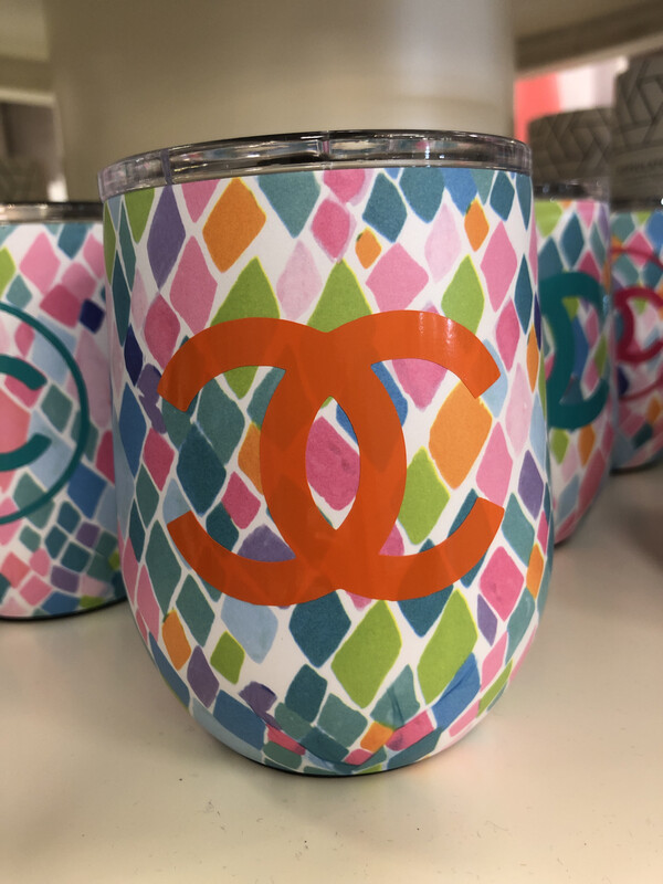 Designer Wine Tumbler Orange CC