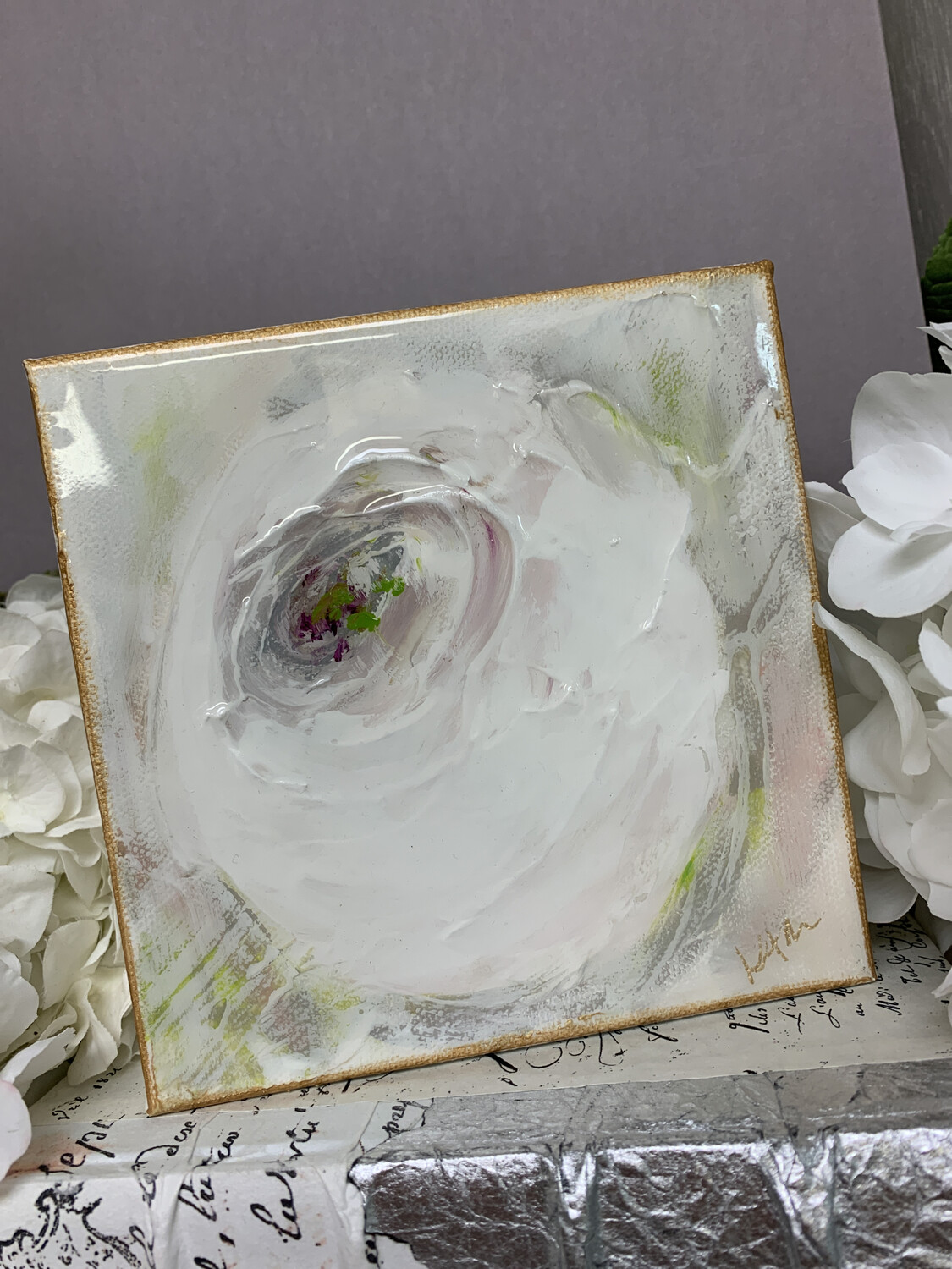6x6 Flower Gloss Painting