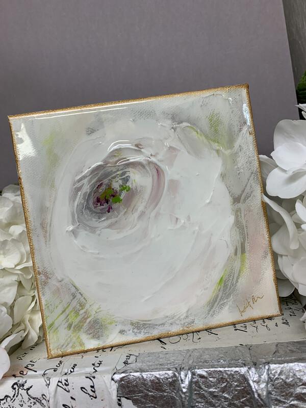 6x6 Flower Gloss Painting