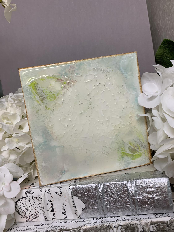 6x6 Hydrangea Gloss Painting