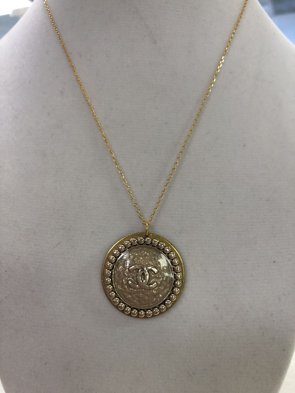 BSD Vintage CC Necklace Large Gold