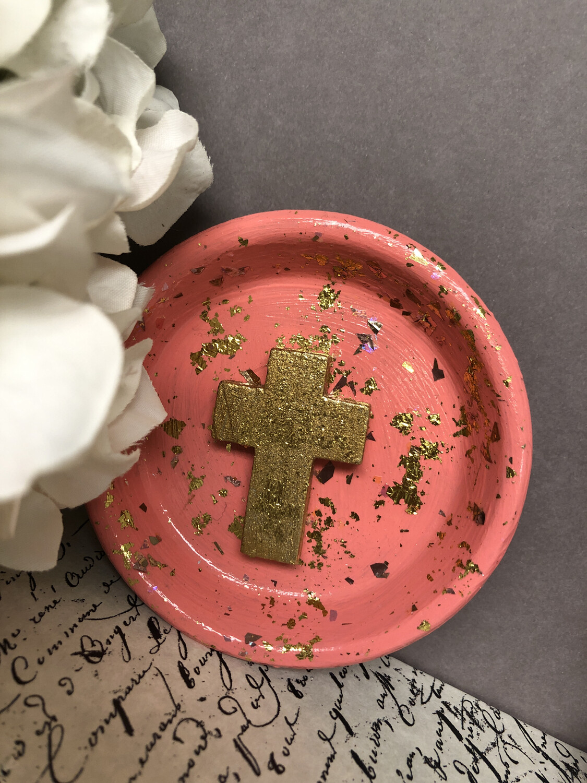 Cross Confetti Trinket Dish 4