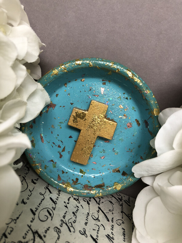 Cross Confetti Trinket Dish 5