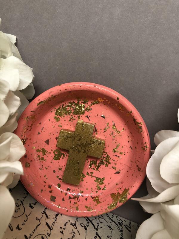 Cross Confetti Trinket Dish 1