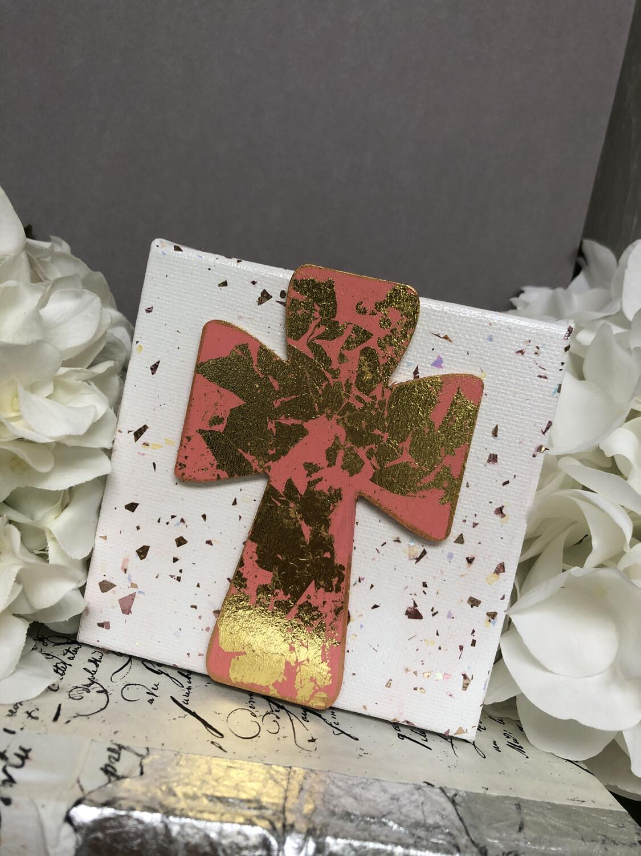 4x4 Cross Confetti Painting 1