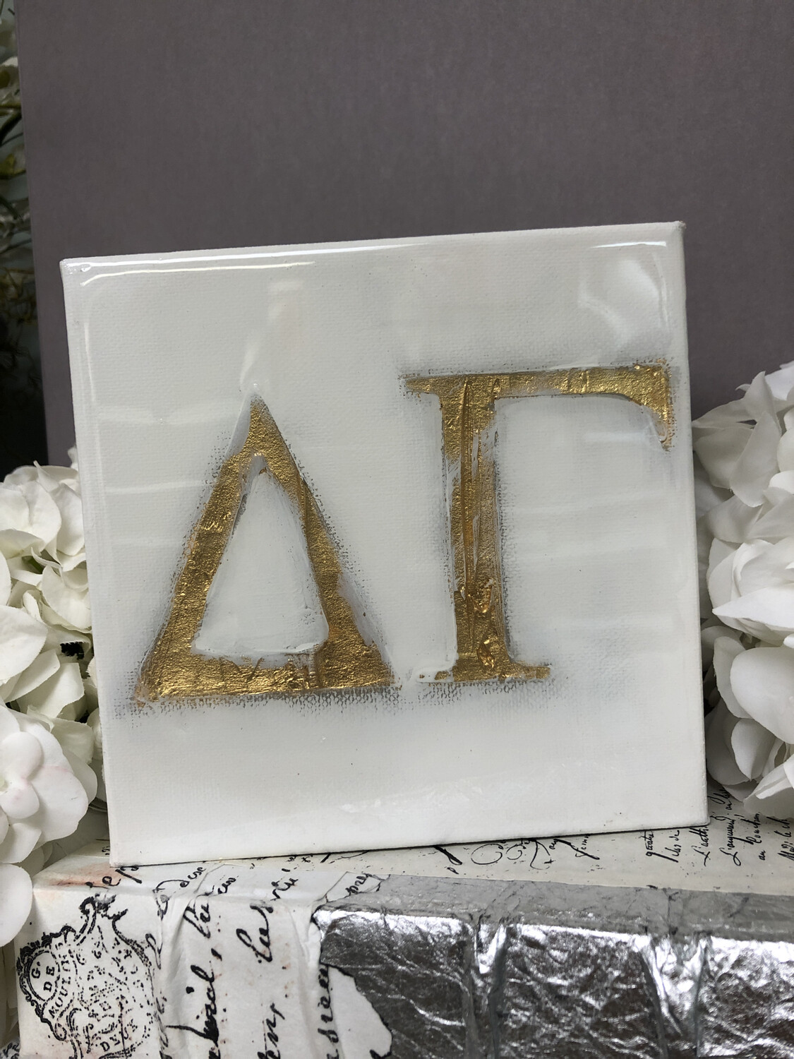 6x6 Sorority Painting Delta Gamma