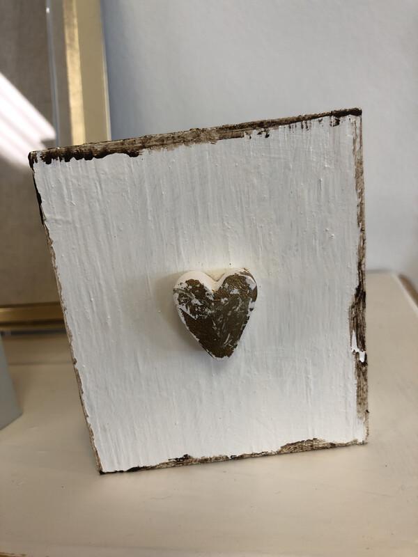 Cross/heart Wood Block
