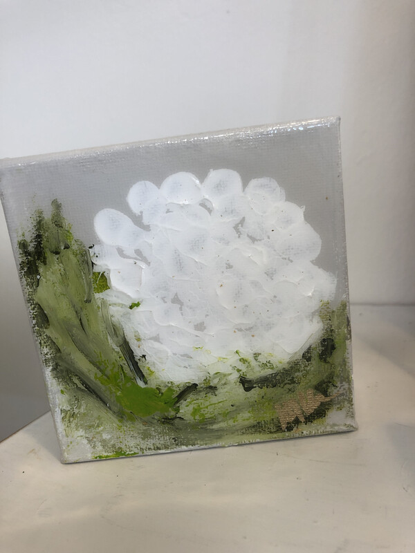 4x4 Gloss Flower White