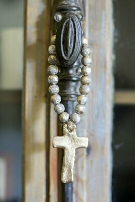 """SS Blessing Bead Bitty 7.5"""" Grey"""