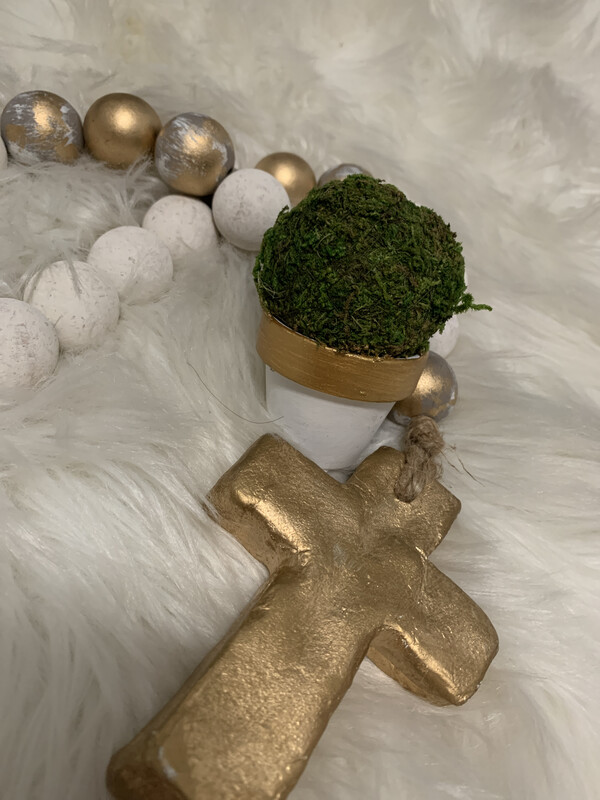 Petite Gold Rim Ball Pot